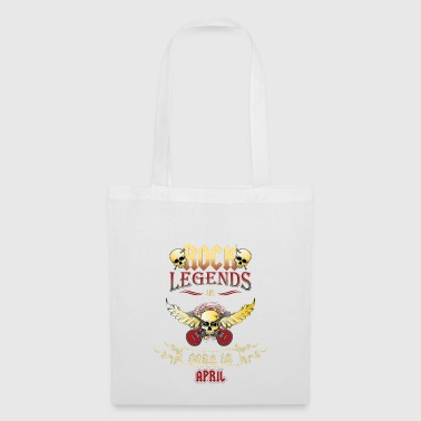 Birthday gift Rock Legends in April - Tote Bag