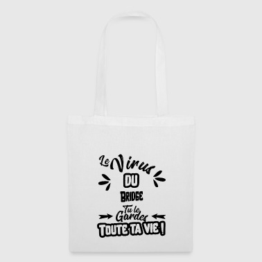 Le virus du bridge cadeau - Tote Bag