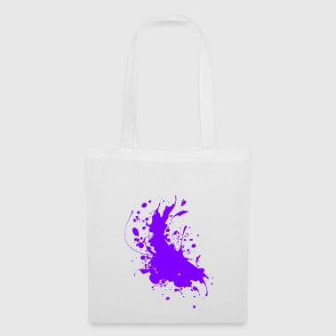 Splatter verf spatten Abstract - Tas van stof