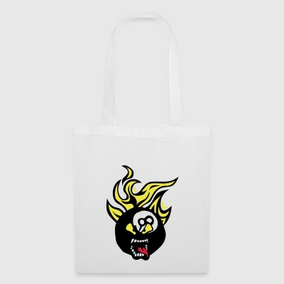 billard cartoon 0 face flamme langue fire - Tote Bag