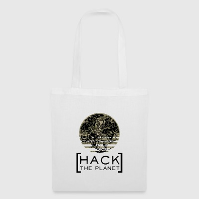 Hack planety Motto T-shirt Camouflage - Torba materiałowa