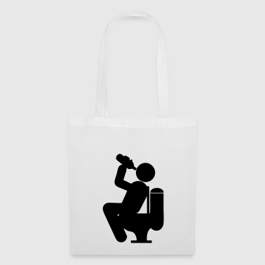 drink alcohol humor toilet toilet toilet wc - Tote Bag