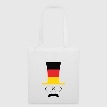Allemagne drapeau fan de football hipster - Tote Bag