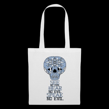 Cute Skull No Evil - Tote Bag