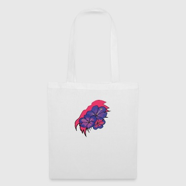 Crack with hawaii flowers - Tote Bag