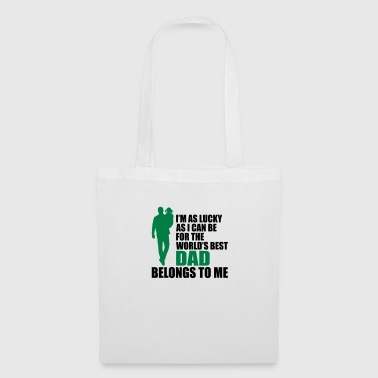 World's best dad fathers day - Tote Bag