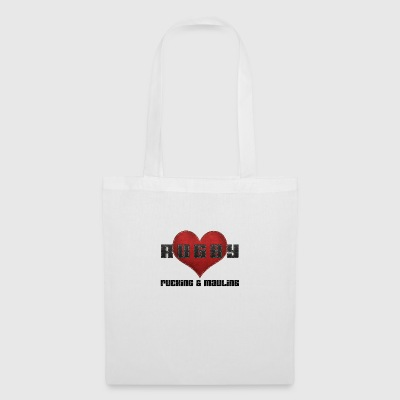Love RUGBY Leather Like Texture - Tote Bag