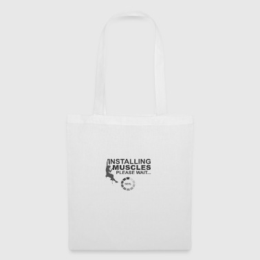 Installation muscles, S'il vous plaît attendre - Tote Bag