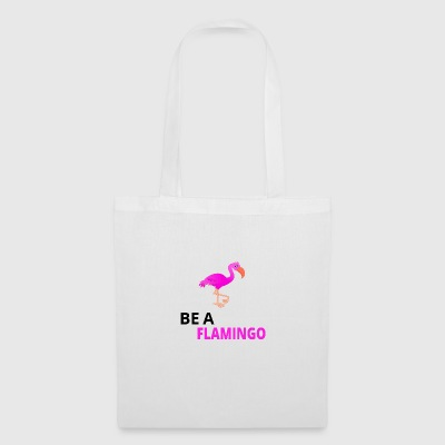 Be A Flamingo Black - Tote Bag