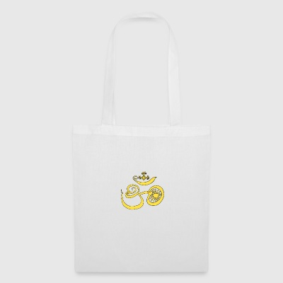 Symbol of Buddhist OM with sun - Tote Bag