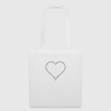 musical heart - Tote Bag