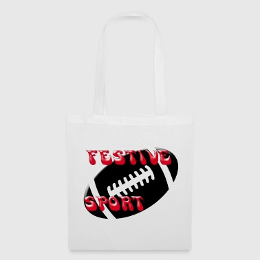 Festive rugby - Tote Bag