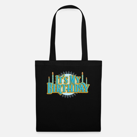 Birthday Bags & Backpacks - Birthday My Birthday Retro Candles Party Gift - Tote Bag black