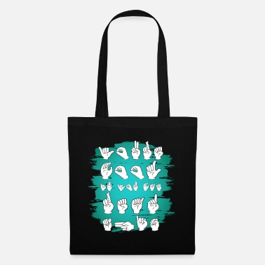Sign language, sign language, you are cool ... - Tote Bag