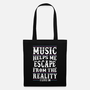 Music Music helps me - Music Love - Music Quote - Tote Bag