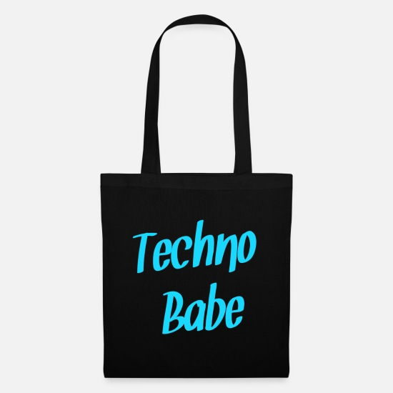 Hardstyle Bags & Backpacks - Techno babe - Tote Bag black