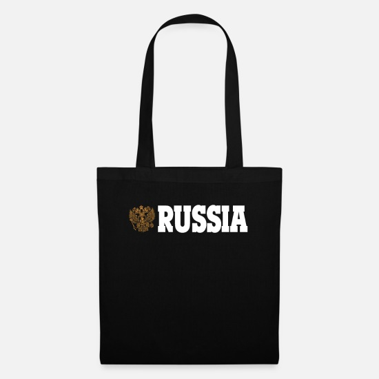 Russia Bags & Backpacks - RUSSIA RUSSIA! - Tote Bag black