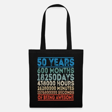 50's Birthday Gift Celebration Fifty Anniversary - Tote Bag