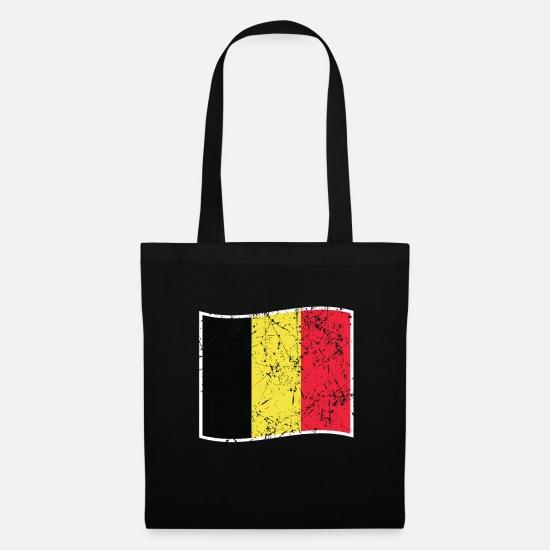 Belgien Karte Umriss.Belgien Geschenk Flagge Fahne Karte Umriss Stoffbeutel Spreadshirt