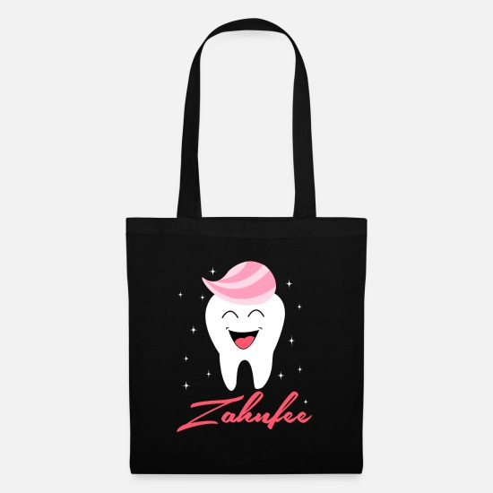 Tooth Bags & Backpacks - tooth fairy - Tote Bag black