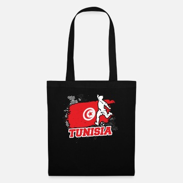 Illustration Football Coupe du Monde Tunisie Equipe de Football Tunisienne - Sac en tissu