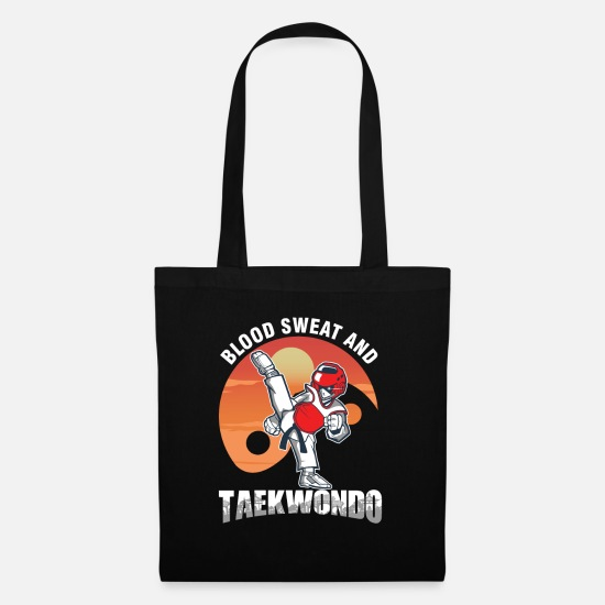 Martial Artist Bags & Backpacks - Blood Sweat Taekwondo Martial Artists Judo Karate - Tote Bag black