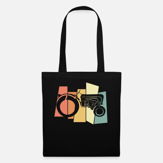 Vintage Bags & Backpacks - tractor - Tote Bag black