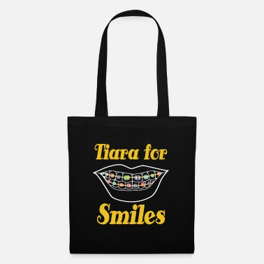 Mouth Tiara for smiles braces brace girls girl mother - Tote Bag