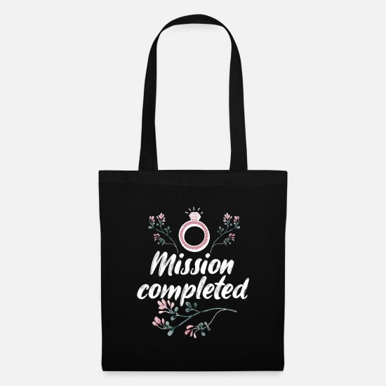 Love Bags & Backpacks - Mission Completed - Marry - Tote Bag black