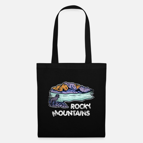 Birthday Bags & Backpacks - Rocky Mountains gift - Tote Bag black