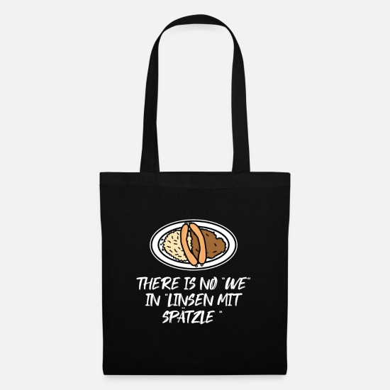Birthday Bags & Backpacks - Lentils with spaetzle - Tote Bag black