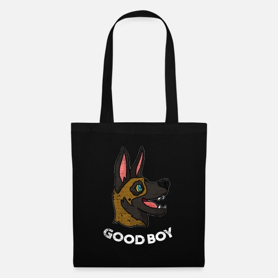 Anime Bags & Backpacks - Malinois dog gift - Tote Bag black