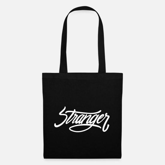 Brand Bags & Backpacks - Stranger, foreign lettering - Tote Bag black