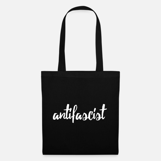 Cop Bags & Backpacks - antifascist red - Tote Bag black