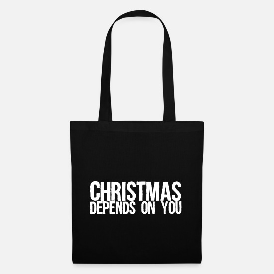 Mulled Wine Bags & Backpacks - Christmas depends on you - Tote Bag black