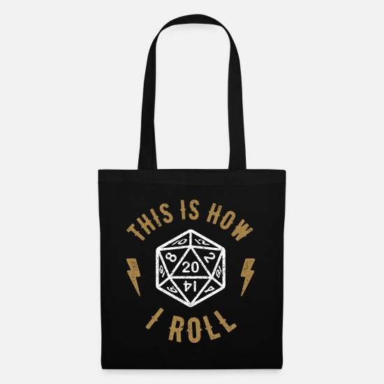 Dungeons And Dragons Bags & Backpacks - Dice D20 Dungeon Dragon Gamer Gift Retro - Tote Bag black