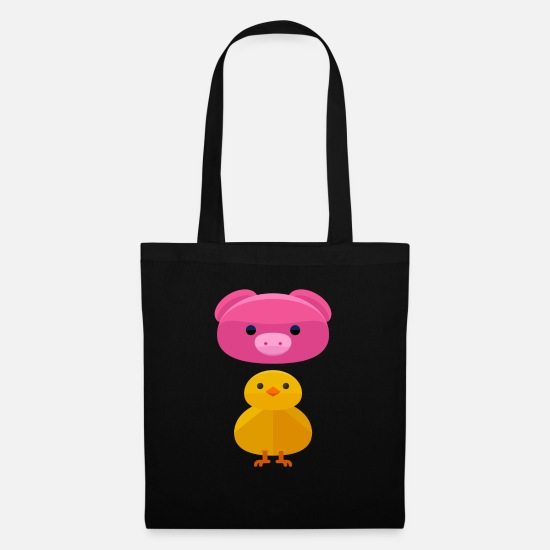 Play Bags & Backpacks - Pig and duck - Tote Bag black