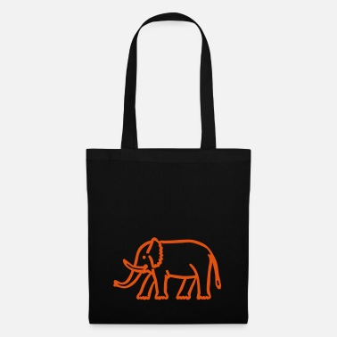 Drawing elephant - Tote Bag