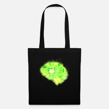 Anatomy Brain Anatomy brain glowing bright - Tote Bag