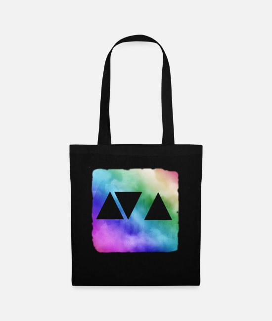 Party Bags & Backpacks - triangle - Tote Bag black