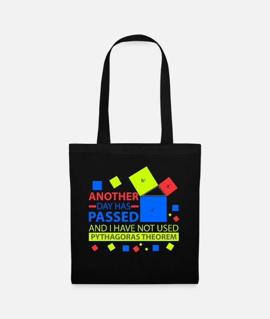 Maths Bags & Backpacks - Pythagoras Math Physics Humor Funny Fun - Tote Bag black