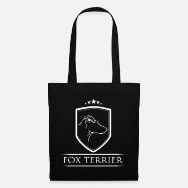 Profile FOX TERRIER coat of arms dog dogs Wilsigns - Tote Bag