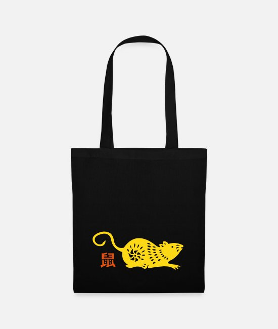 Belief Bags & Backpacks - year of the rat (chinese zodiac) - Tote Bag black