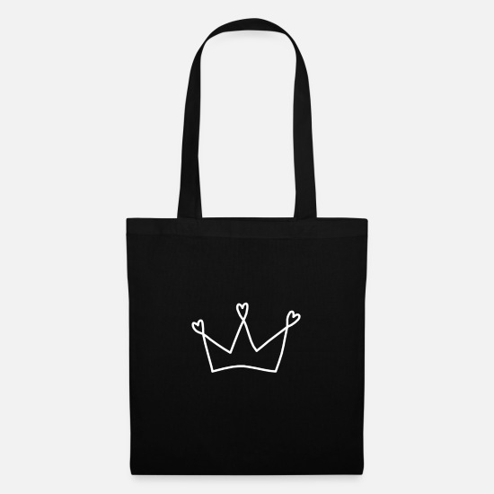 Gift Idea Bags & Backpacks - Crown King Queen - Tote Bag black
