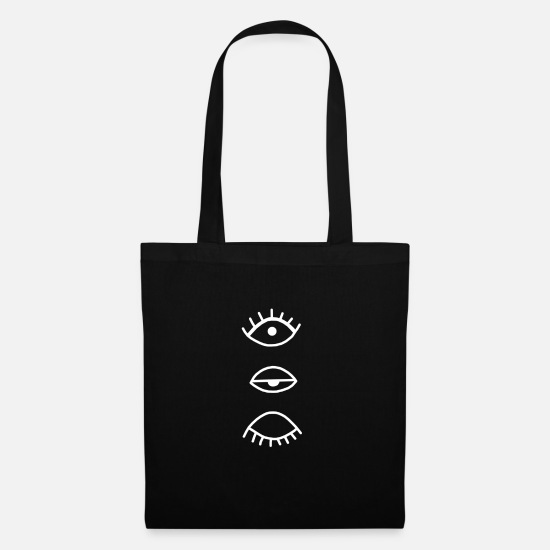 Eye Bags & Backpacks - eye - Tote Bag black