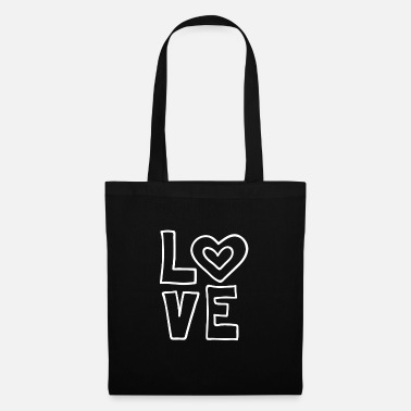 Lovely Love love valentines day romantic heart heart kiss - Tote Bag