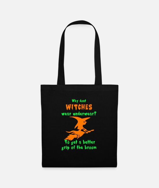Horror Bags & Backpacks - Witches Wear Underwear? - Tote Bag black