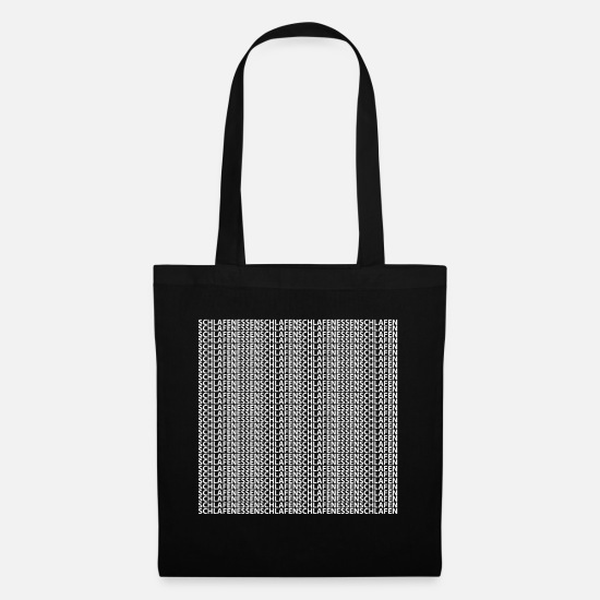 Sloth Bags & Backpacks - Lazy laziness lazy - Tote Bag black