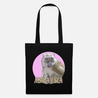 Macaque Macaques pink - Tote Bag