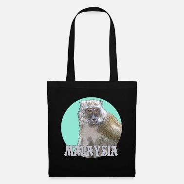 Macaque Macaque turquoise - Tote Bag